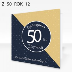 "Zaproszenie na 50-tke ""50/50"""