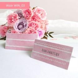 Winietki - Różowo białe paski