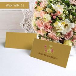 Winietki - Złote z kwiatkiem