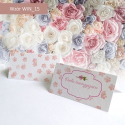 Winietki - Białe z różowymi...