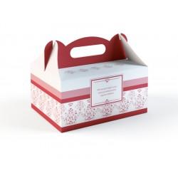Pudełka na Ciasto Bordowe