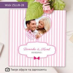 """Zaproszenia Ślubne """"Różowa..."""