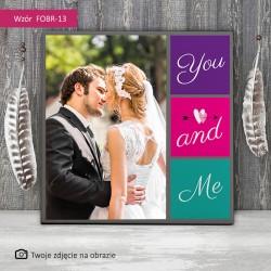 Foto obraz ślubny - Ty i Ja