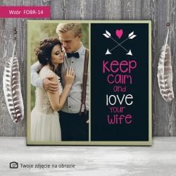 Foto obraz ślubny - Love...