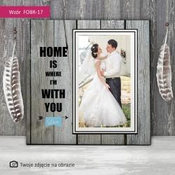 Foto obraz ślubny - Dom...