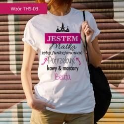 T-shirt z nadrukiem Jestem...