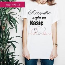 T-shirt Szyty na + Twoje imię