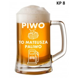 Kufel z grawerem - Piwo to...
