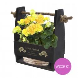 Nosidło na kwiaty z grawrem