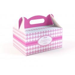 Pudełka na Ciasto Różowe